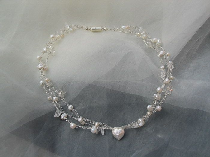Brautschmuck - Brautschmuck-Set - Kette, Armband, Ohrringe - ein Designerstück von la-filigrana bei DaWanda