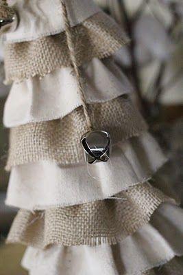 DIY: Burlap Christmas Trees