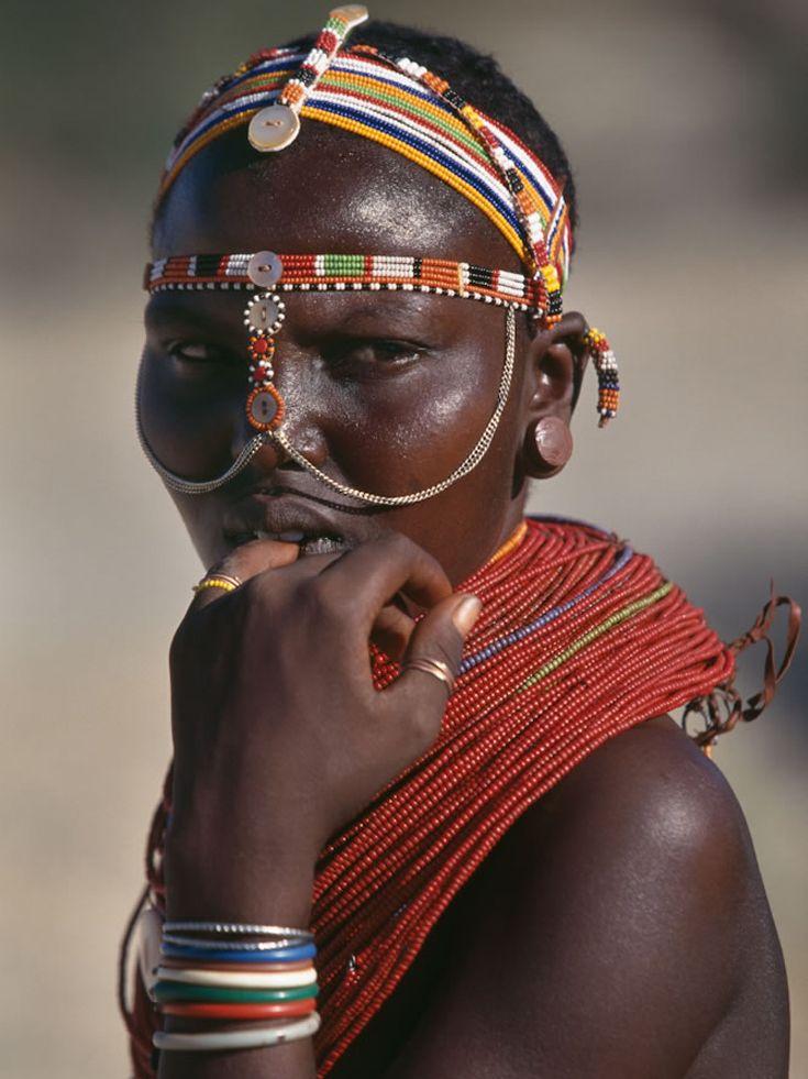 Africa | Samburu woman.  Wamba, Kenya | ©Colin Prior
