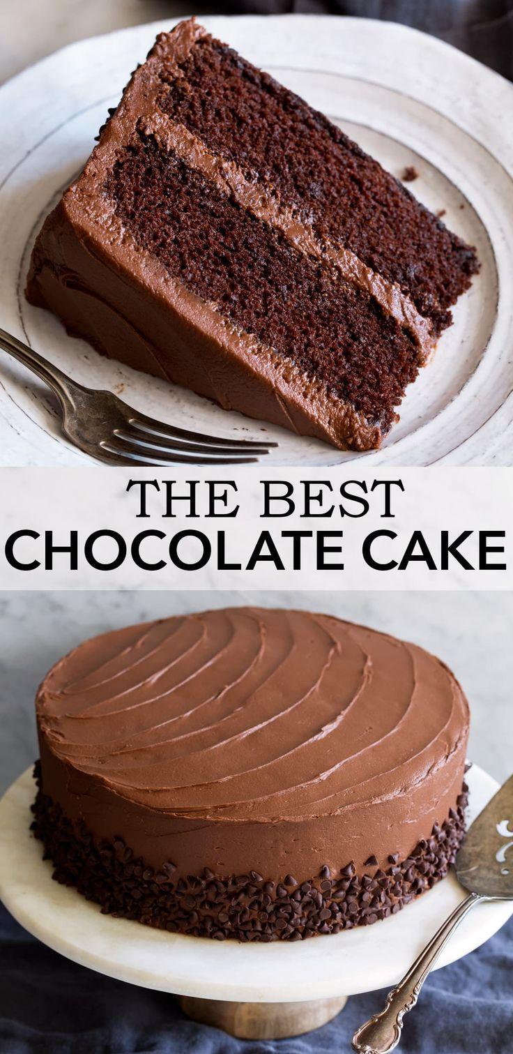 Der ultimative Schokoladenkuchen – unglaublich weich und feucht und voller …