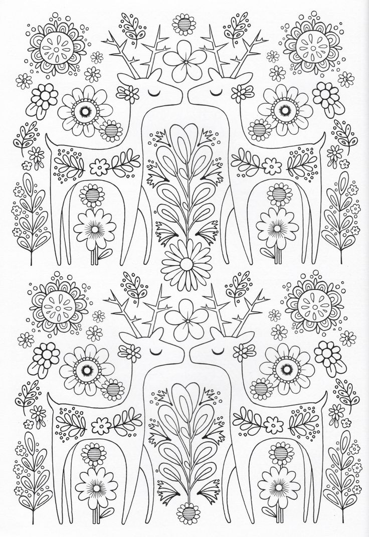 Scandinavian Coloring Book Pg 8 Color Pages Stencils