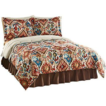 Collections Etc Breckenridge Southwest Aztec Comforter Set, Full/Queen, Multi