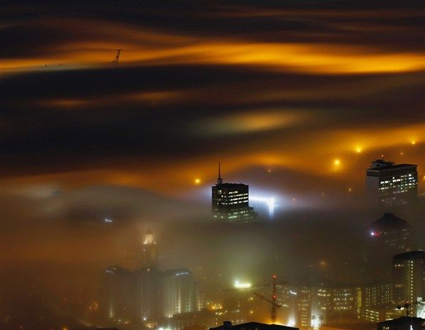Capetown in the mistFog Illuminated, Capes Town, Town Harbour, The Cities, Seasons Fog, Long Exposure, Exposure Pictures, Foggy Capetown, Cape Town
