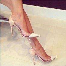Gloednieuwe Sexy Fashion Doorkijkmodel Puntschoen Schoenen Vrouwen Dunne Hakken Pompen Zomer Stijl Sandalen Hoge Hakken Zapatos Mujer 532(China (Mainland))
