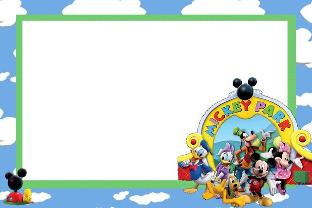 Mickey Mouse Disney - Full Kit with frames for invitations, labels for snacks, souvenirs and pictures!   Making Our Party