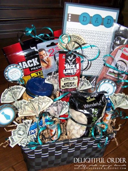 Homemade gift basket for the guy in your life.