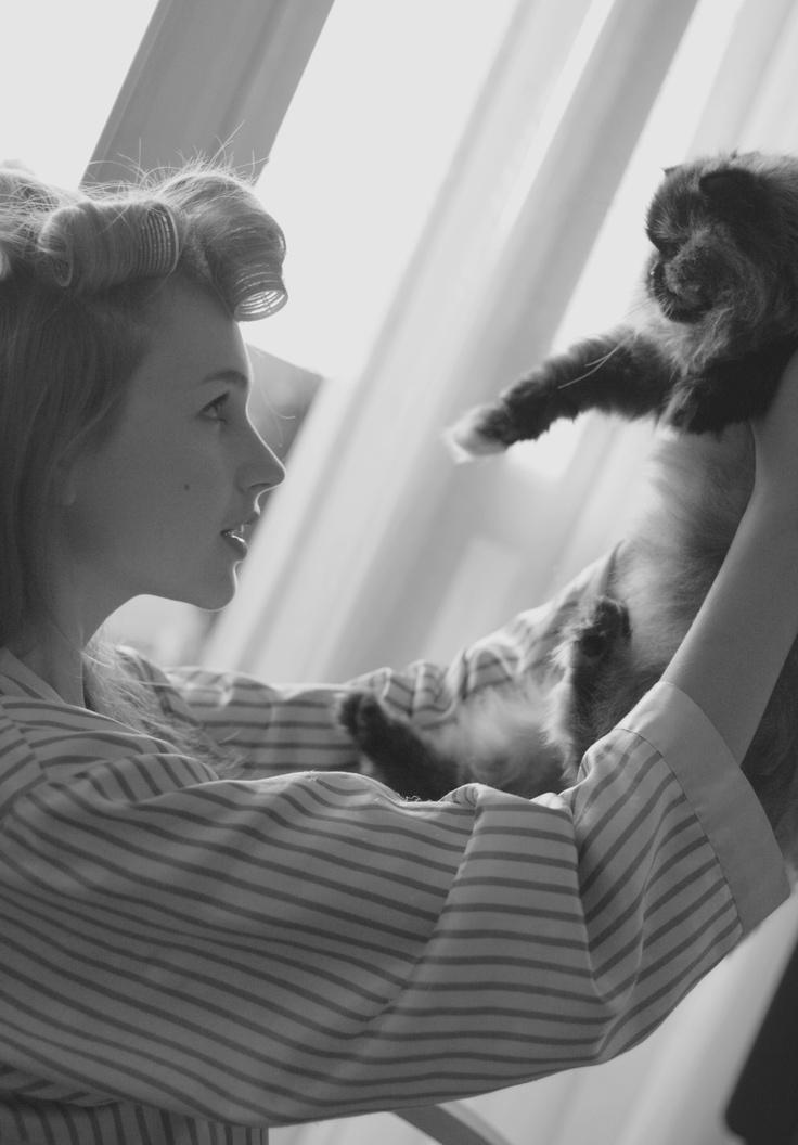 woman, portrait, kobieta, portret, fotoris, portrait with cat, cat, kot, portret z kotem