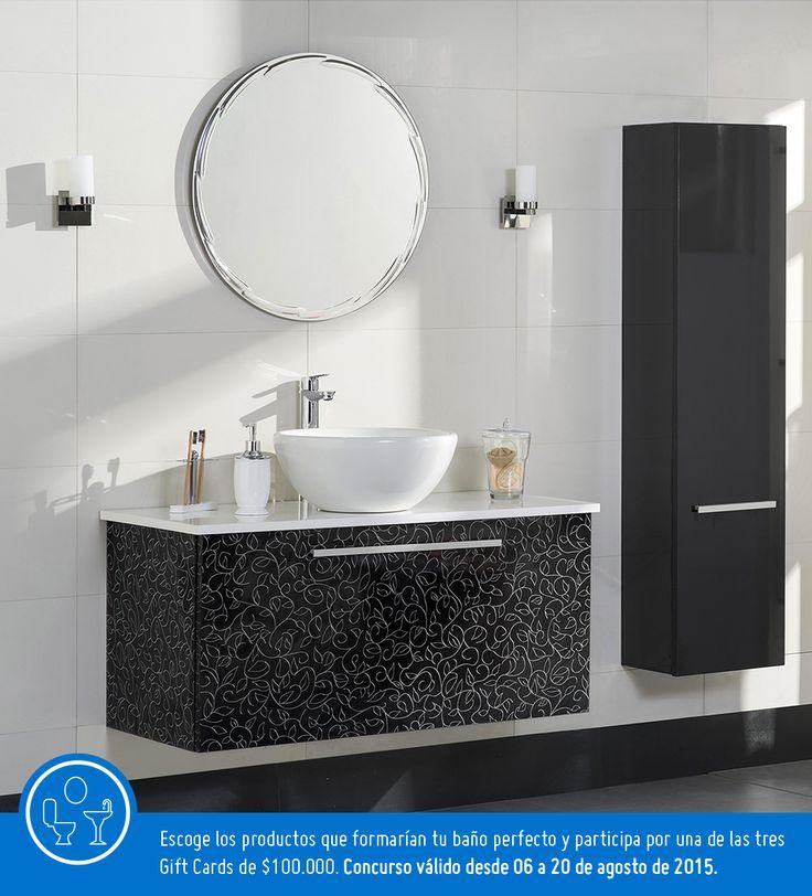 Participa creando un tablero llamado Baño Perfecto, escoge al menos 6 productos de este tablero y pinealos en él.