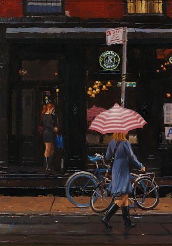 Винсент Giarrano, розовый зонтик (Продано)