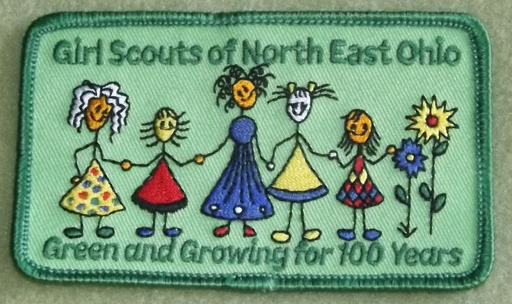 girl scouts north east ohio 100th anniversary patch green