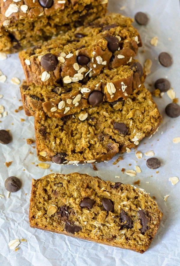The most moist and flavorful Pumpkin Ghirardelli Chocolate Chip Bread | Well Plated
