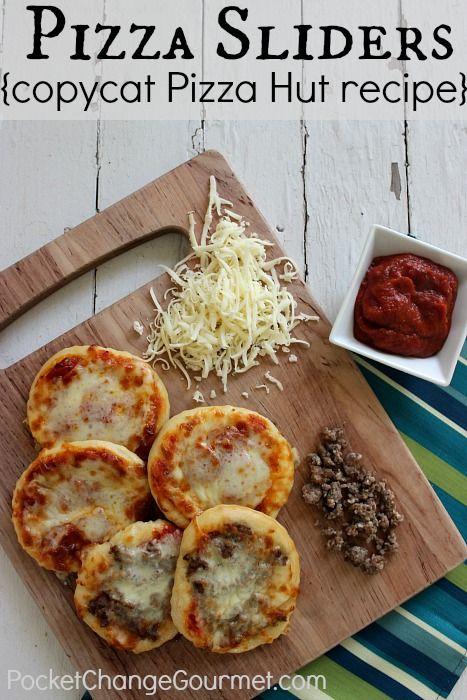 Pizza Sliders :: Pizza Hut copycat recipe from PocketChangeGourmet.com