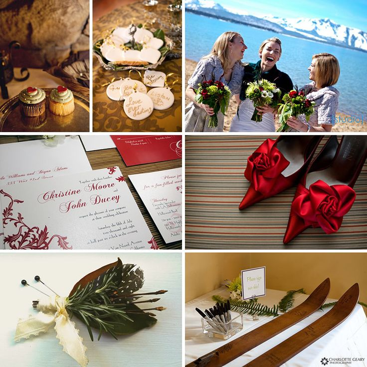 #red mountain #winter #wedding #color #inspiration