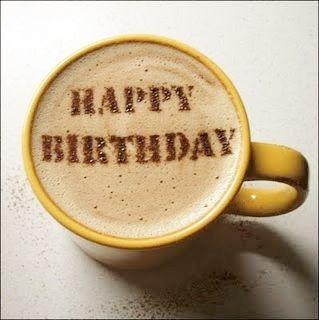 Barrista Coffee Happy Birthday
