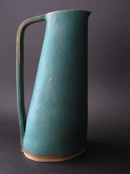 peccadillocollection:    lovely aqua ceramic pitcher