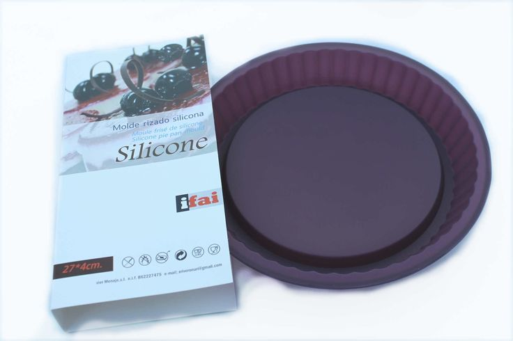 PIE PAN MOULD part of the 3 SILICONE MOULDS SET FOR CAKES & CHEF APRON 40€ - Oven, Microwave and Freezer safe. Dishwasher safe - #SiliconeMold by http://www.amazon.de/gp/aag/main?seller=A1QPL980FAHTMT