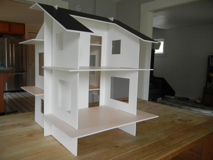 10 best i love foamboard images on pinterest doll for Foam panel house