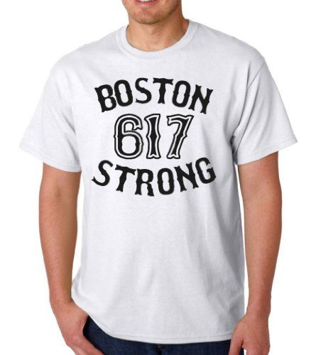 Boston Strong 612 Adult T-Shirt Tee White X-Large