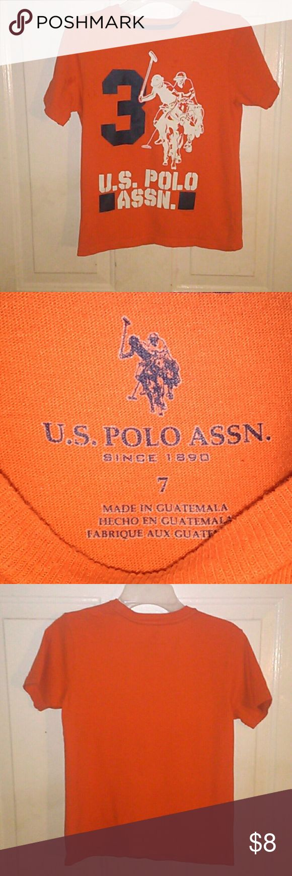 Boys polo tee Shirt Boys polo tee shirt size 7 perfect condition the water marks are from me steaming it Shirts & Tops Tees - Short Sleeve