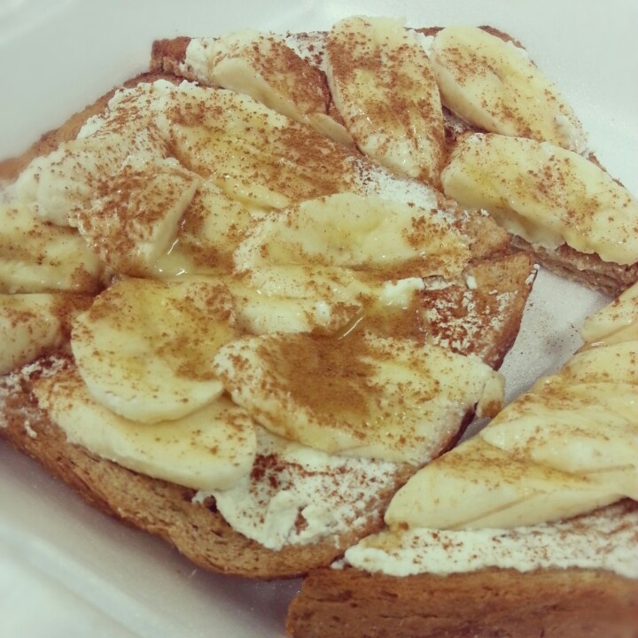 Ricotta, banana, honey & cinnamon toast