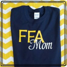 Wear this FFA mom shirt proud! Choose the colors you want!