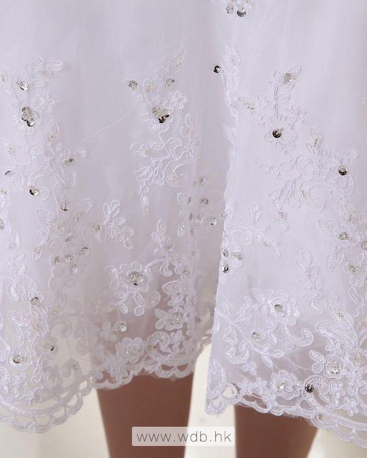 Sweetheart Taffeta Organza Beading Ruffle Short Wedding Dress $155.19
