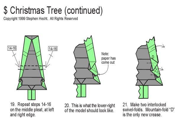 Money Origami Christmas
