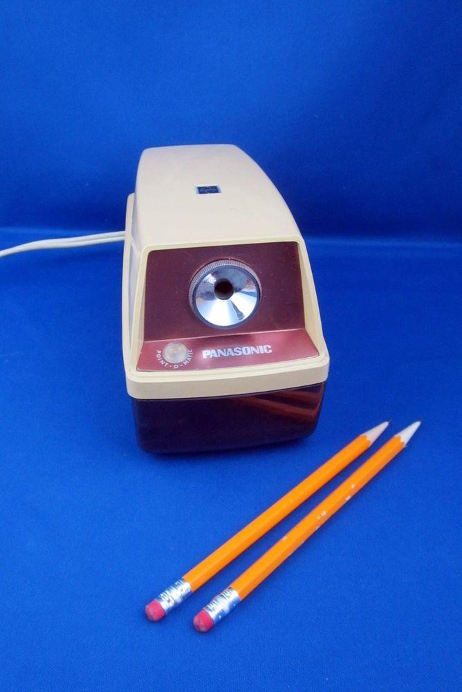 Panasonic Point-O-Matic Electric Pencil Sharpener Desk Top Model KP-8A  #Panasonic