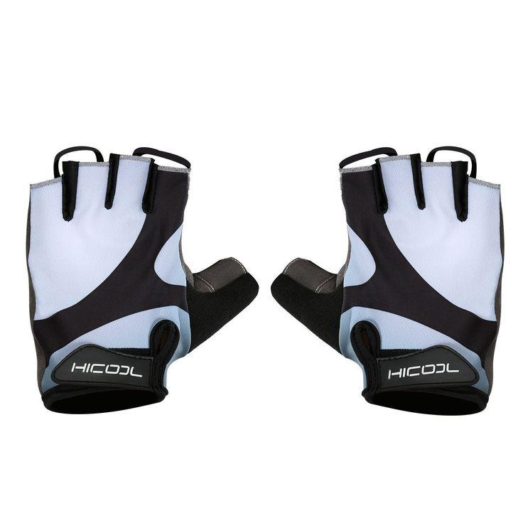 Hicool refroidir gants de vélo respirant des gants demi doigt de vélo pour la musculation haltérophilie cyclisme et plus - les femmes et les hommes de sport gants
