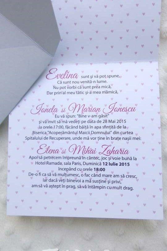 Invitatie de botez Rolly, pentru fetite - Tulpa.ro