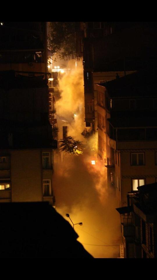 Amount of tear gas in Harbiye, Istanbul