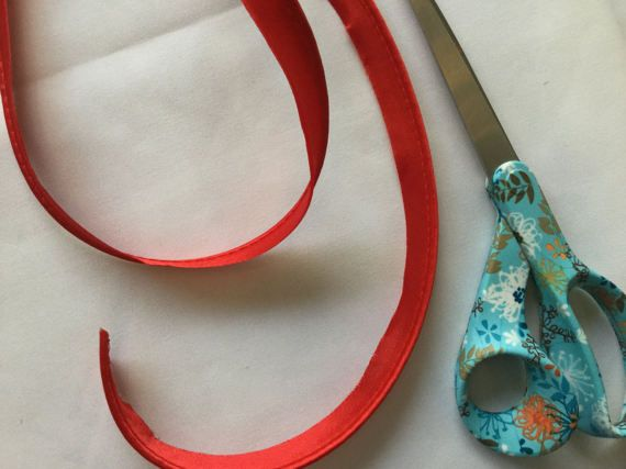 Red Polyester Satin Bias Piping Trim  Dressmaking  Home