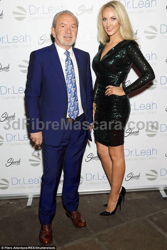 Lording it up: Lord Alan Sugar was also at the event with his business partner promoting ... #expartner #love #relationship #lovesick #advice #romance #partner #breakup #rekindle #spark