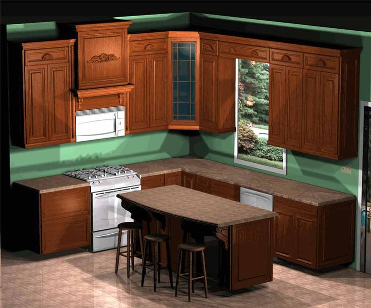 Marvelous Modern Kitchen Design With Dark Brown Counter Top Combined Wooden Paneling Wall Cabinet Attached On Green Also White Stove Featuring Arranged
