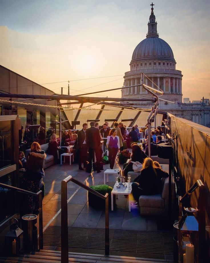 "What a gorgeous view of St. Paul's Cathedral in London as captured by London-based photographer @alanisko! ""One of my favorite places in London. Great for after-work drinks with one of the most amazing views of St. Paul's the Eye and even Big Ben. And on top of that entry is free for the public viewing platformjust use the lift in the One New Change building."""