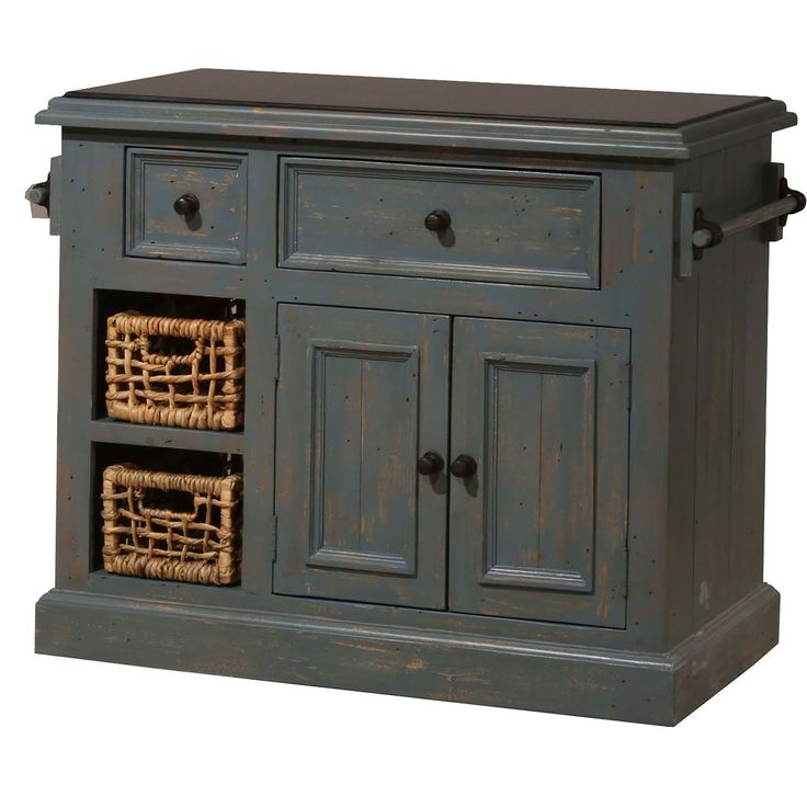 Tuscan Retreat ® Medium Kitchen Island With Two Baskets Hillsdale Furniture Islands & Work