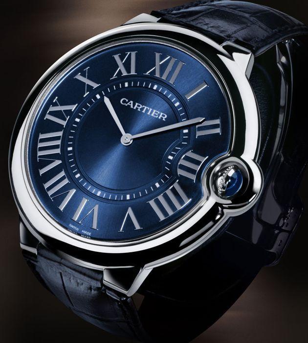 Relógio Ballon Bleu de Cartier extraplano em platina
