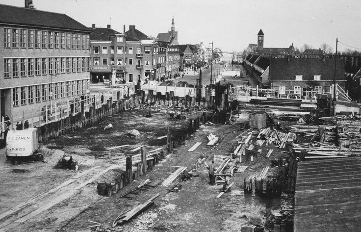 1939 aanleg tunneltje Groene Hilledijk.