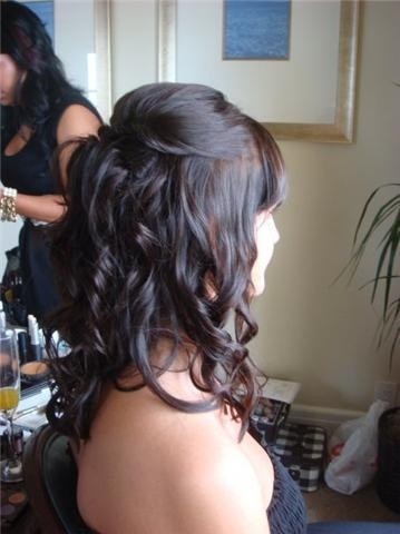 love the half up hair-- but with bigger curls