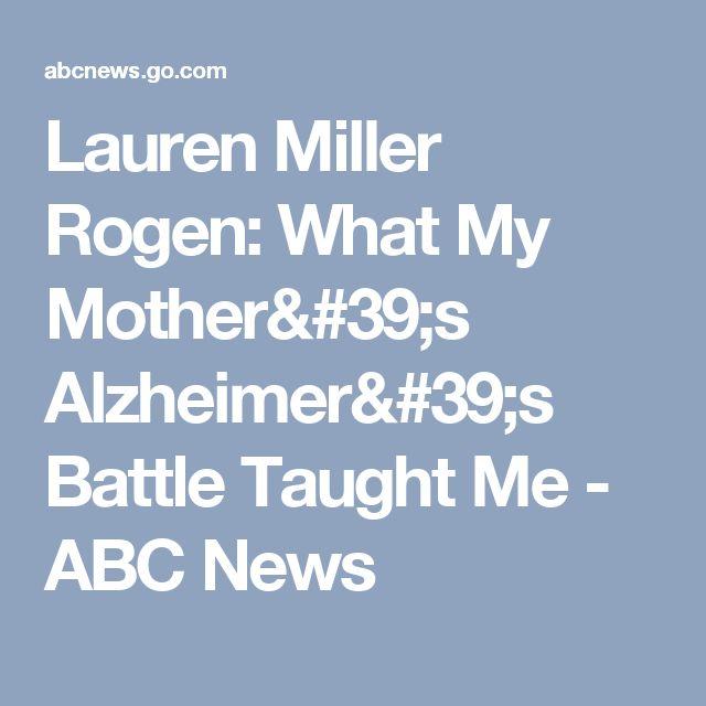 Lauren Miller Rogen: What My Mother's Alzheimer's Battle Taught Me - ABC News
