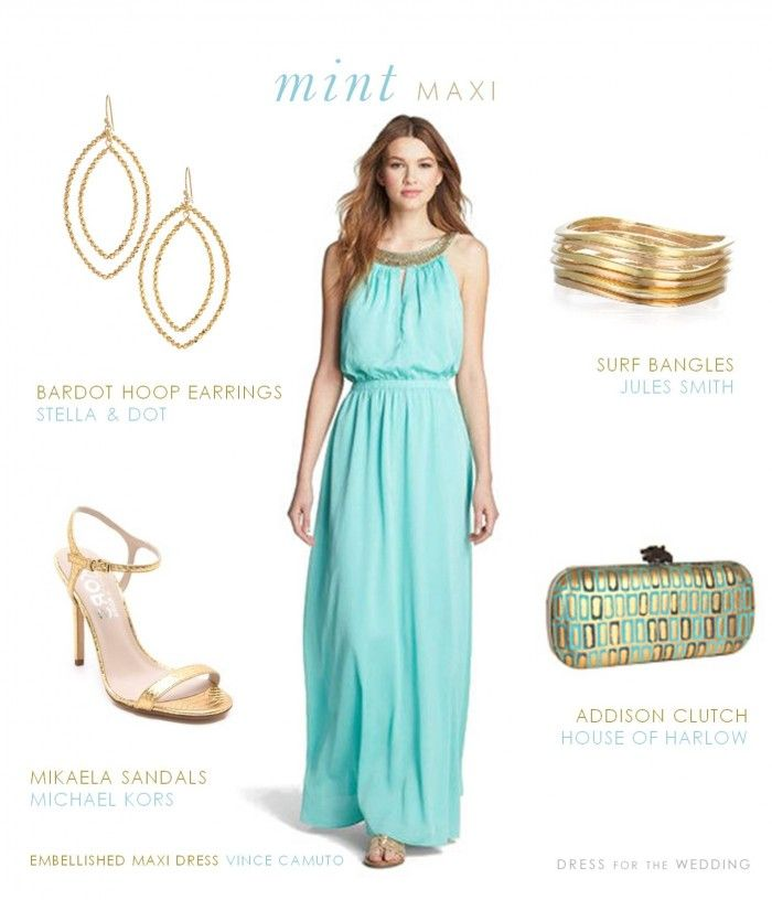 Maxi dress beach wedding