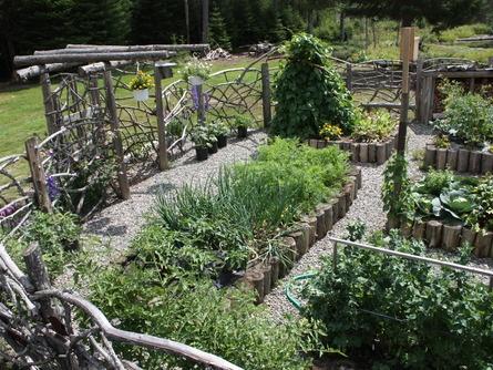 Raised Bed Garden Idea Part Love The Idea Of Using Cut Logs In Raised