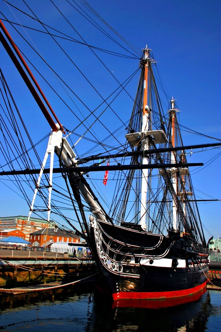 USS Constitution, just outside Boston, Massachusetts.