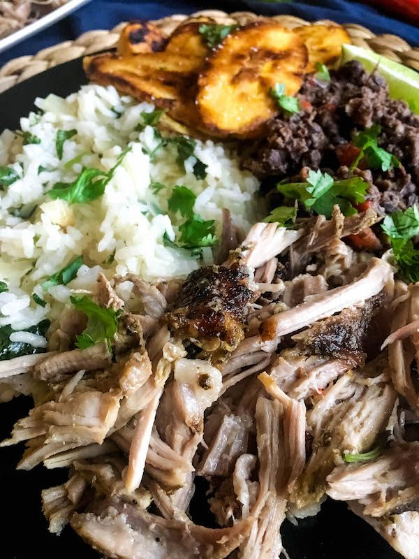Cuban Pork Rice Bowls with Black Beans and Plantains - Baked Ambrosia