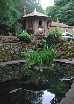 St Ann's Well in summer! A very special place and fab veggie food!