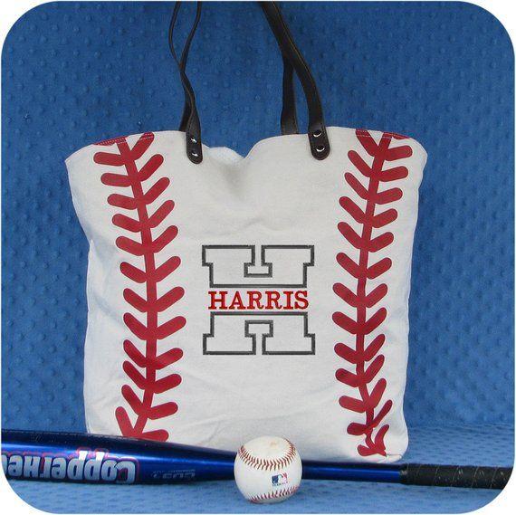 Baseball Mom Bag Monogrammed Baseball Tote Bag Personalized Etsy Baseball Bag Baseball Tote Bag Mom Bags