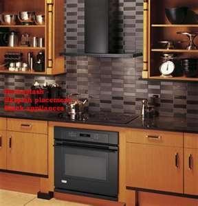 Dark Kitchen Cabinets And Backsplash