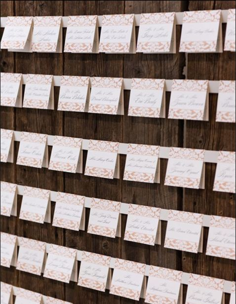( 60 reasons ) Barnwood Wall Backdrop with ribbon attached - folding cards can be added by placing through the ribbon