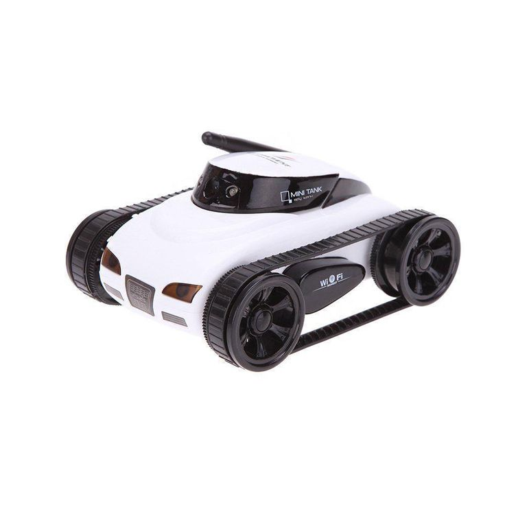 Wifi RC Tank Car with Mini I-spy Camera 30W Pixels Camera Controlled Android APP #WifiRCChina