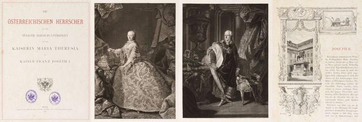 """Heraldry, History, Law and Policy. """"The Austrian rulers from the Habsburg-Lothringen dynasty of the Empress Maria Theresa (1717-1780) and Emperor Franz Joseph I (1708-1765)"""